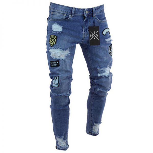 Shop in Eastleigh | men jeans stretch destroyed For Sale