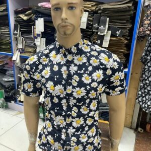 Shop in Eastleigh | Fashion Men's Casual Floral Print Short Sleeve Lapel Hawaiian Shirt For Sale