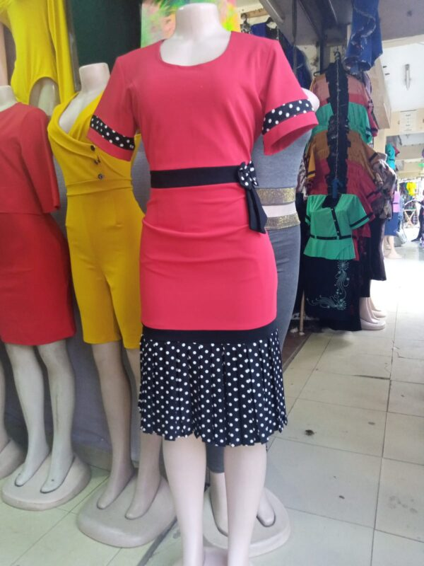 Shop in Eastleigh | Women Short Sleeves Dress with Floral Belt For Sale