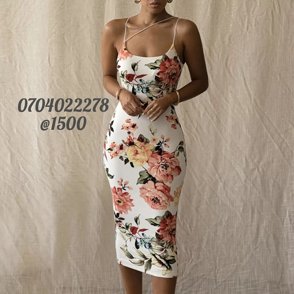 Shop in Eastleigh | Floral Sleeveless Bodycon Summer Dress For Sale