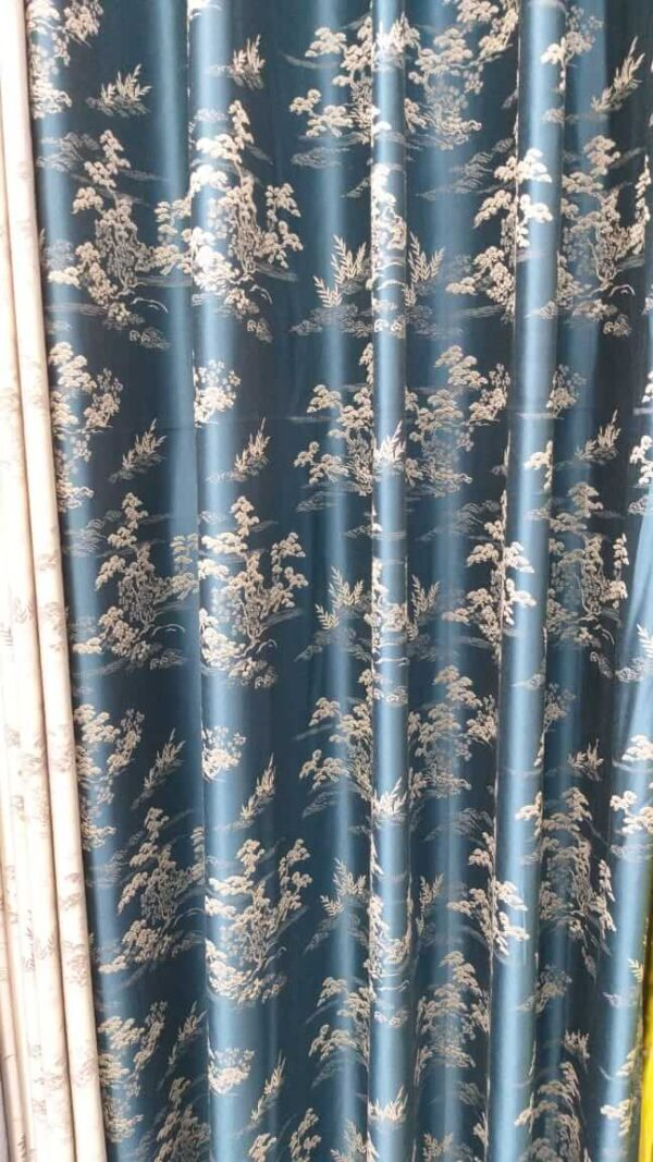 Shop in Eastleigh | Glossy Floral Multi-colored Curtains For Sale