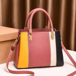 Shop in Eastleigh |  Classy Colour Blocked PU Leather Handbag For Sale