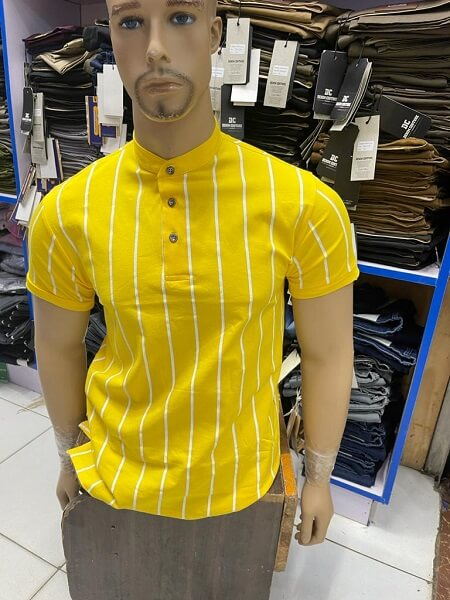 Shop in Eastleigh | Chinese Collar Stripped Cotton Tshirts For Sale