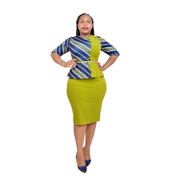 Shop in Eastleigh | Green Official Peplum Skirt Suit For Sale