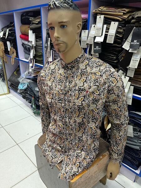 Shop in Eastleigh | Fashion Men Casual Slim Fit Floral Long Sleeve Shirt For Sale