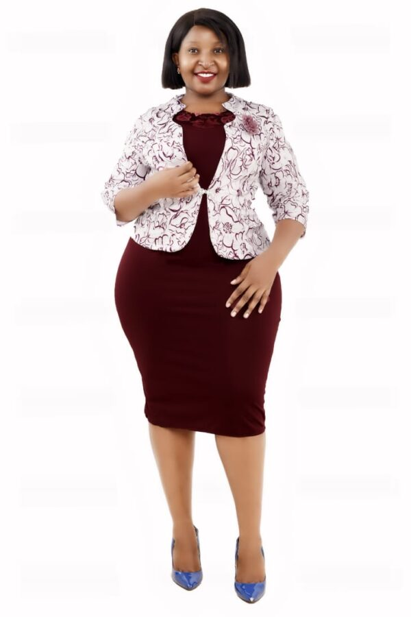 Shop in Eastleigh | Business Pencil Dress With A Floral Jacket For Sale