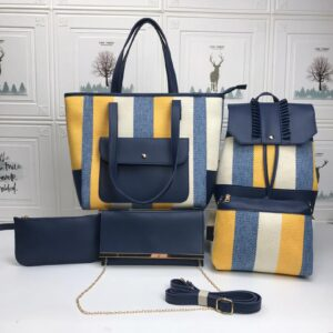 Shop in Eastleigh    5 in 1 Ladies Leather Multicolored Stripped Handbags For Sale