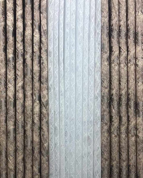 Shop in Eastleigh | Brown Curtains with white sheers For Sale