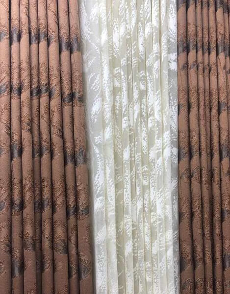 Shop in Eastleigh | High Quality Brown Curtains with white sheers For Sale