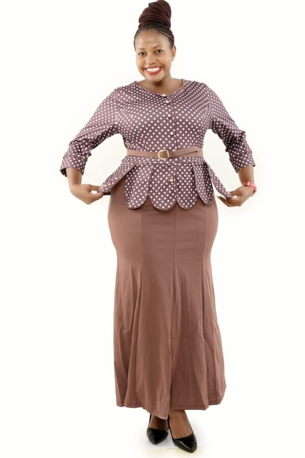 Shop in Eastleigh |  Fashion Turkey Material Peplum Dress For Sale
