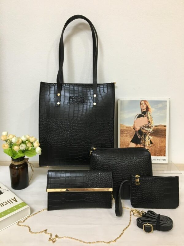 Shop in Eastleigh    Fashion  4 In 1 Ladies Leather Handbags For Sale