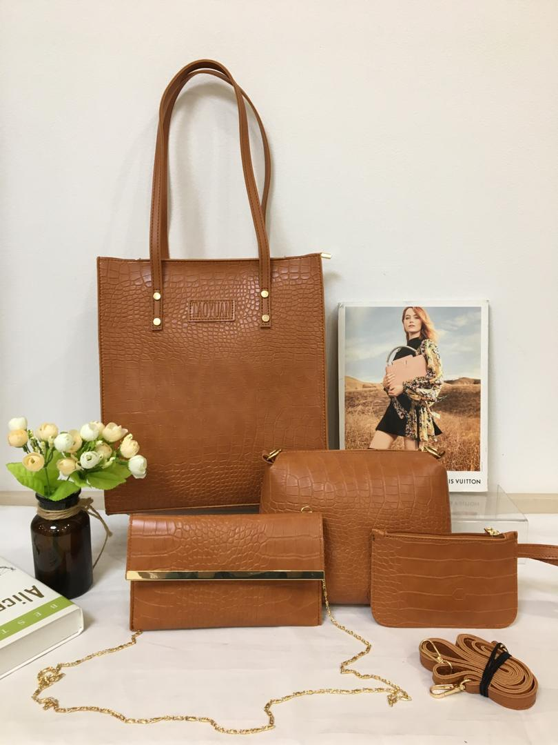 Shop in Eastleigh | Fashion 4 In 1 Ladies Leather Handbags For Sale